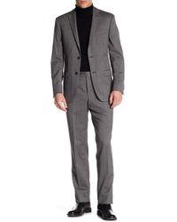 Spurr By Simon Spurr | Two Button Notch Lapel Wool Suit | Lyst