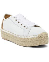 Matt Bernson - Eze Leather Platform Espadrille Sneaker - Lyst