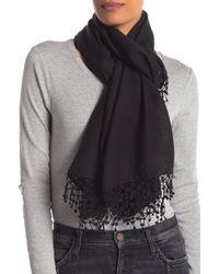 La Fiorentina - Wool Silk Blend Scarf - Lyst