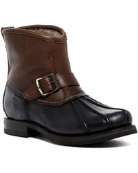 Frye | Veronica Genuine Shearling Duck Engineer Boot | Lyst