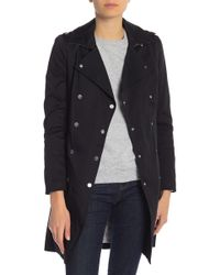SOIA & KYO - Belted Trench Coat - Lyst