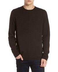 Calibrate - Grid Crewneck Sweater - Lyst