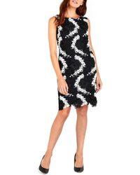 Wallis - Two-tone Crochet Lace Shift Dress - Lyst