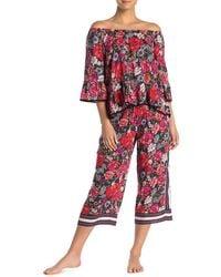 Kensie - Floral Print Pajama Pants - Lyst