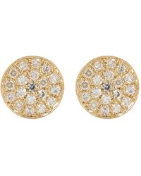 Ron Hami - 14k Gold Micro Pave Diamond Circular Stud Earrings - 0.07 Ctw - Lyst