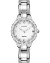 Citizen - Women's Eco-drive Stainless Crystal Bezel Bracelet Watch, 28mm - Lyst