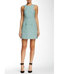 Orla Kiely - Windowpane Print Sleeveless Dress - Lyst