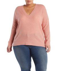 NAKEDCASHMERE - Skyler V-neck Cashmere Pullover (plus Size) - Lyst