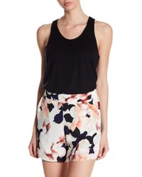 1.STATE - Sleeveless Lace Racerback Knit Tank Top - Lyst