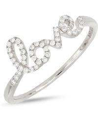 Bony Levy - 18k White Gold Diamond Love Ring - 0.13 Ctw - Lyst