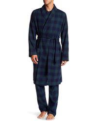 Joe Fresh - Plaid Flannel Robe - Lyst