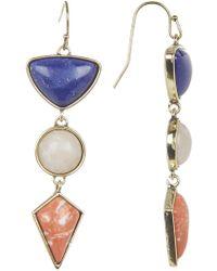 Jessica Simpson - Stone Triple Drop Earrings - Lyst