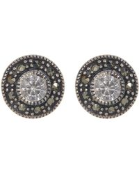 Judith Jack - Sterling Silver Swarovski Marcasite Stud Earrings - Lyst