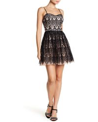 City Triangles - Embellished Lace Party Dress (juniors) - Lyst