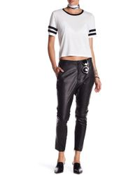 One Teaspoon - Cry Tough Leather Pant - Lyst