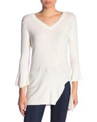 Splendid - V-neck Bell Sleeve Pullover - Lyst
