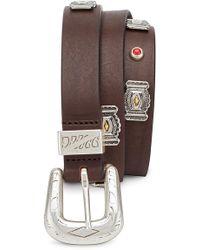 Eleventy - Jeweled Belt - Lyst