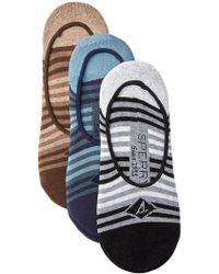 Sperry Top-Sider - Tonal Tri-stripe Cushioned No Show Liners - Pack Of 3 - Lyst