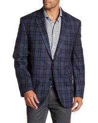 Peter Millar - Blue Check Notch Collar Two Button Classic Fit Wool Sports Coat - Lyst