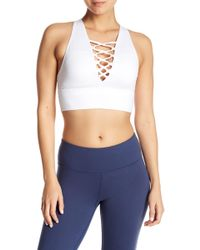 Betsey Johnson - Lace-up Extended Sports Bra - Lyst
