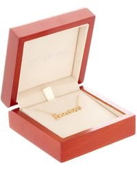 Argento Vivo - Gold Plated Sterling Silver Fearless Script Pendant - Lyst