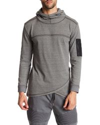 STONEFEATHER - Cowl Jersey Hoodie - Lyst