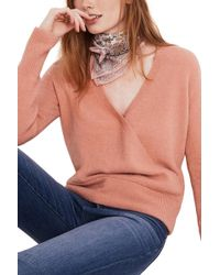 Madewell - Faux Wrap Pullover Jumper - Lyst