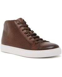 Magnanni - Mack Perforated Leather Trainer - Lyst