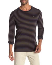 Scotch & Soda - Classic Cotton Elastane Long Sleeve Shirt - Lyst