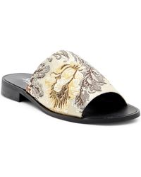 Shellys London - Enya Embroidered Slide Sandal - Lyst