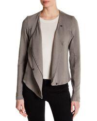 Heather by Bordeaux - Asymmetrical Zip Up Fleece - Lyst