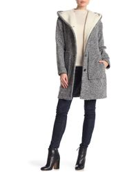 Lucky Brand - Faux Shearling Lined Hooded Coat - Lyst