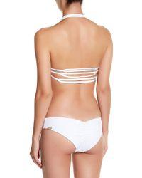 IMSY Swim - Chelsea Colorblock Reversible Triangle Bikini Top - Lyst