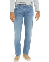 7 For All Mankind - (r) The Straight Slim Straight Leg Jeans (kitsap) - Lyst