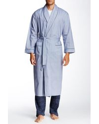 Majestic Filatures - Long Sleeve Piped Trim Full Length Robe - Lyst