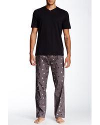 Majestic Filatures - Short Sleeve V-neck Tee & Pant Pyjama Set - Lyst