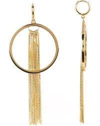 Vince Camuto - Tassel Fringe Huggie Hoop Earrings - Lyst