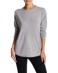 Sweet Romeo - Open Stitch Sweater Sweatshirt - Lyst