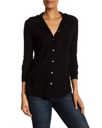 Michelle By Comune - Long Sleeve Knit Shirt - Lyst