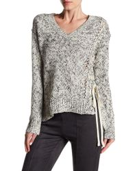 Dex | V-neck Asymmetrical Lace-up Sweater | Lyst