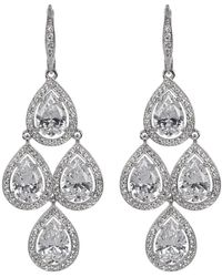 Nadri - Teardrop Cz & Pave Chandelier Earrings - Lyst