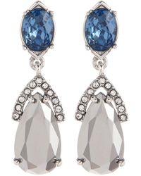 Jenny Packham - Double Drop Earrings - Lyst