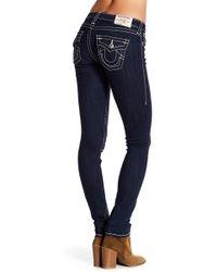 True Religion - Flaps Naturaline Big T Skinny Jeans - Lyst