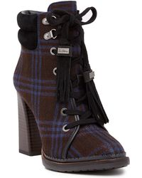 c16ed89a11199 Sam Edelman - Sondra Block Heel Lace-up Boot - Lyst
