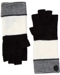 Vince Camuto - Variegated Striped Fingerless Gloves - Lyst