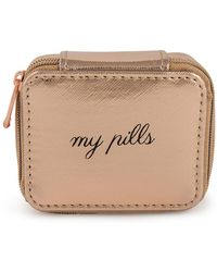 "MIAMICA - Happy ""my Pills"" Pill Case - Rose Gold - Lyst"