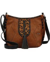 Kensie - Cameron Faux Leather & Faux Fur Crossbody Bag - Lyst