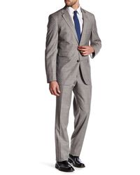 Strong Suit - Claymore Tan Windowpane Two Button Notched Lapel Wool Trim Fit Suit - Lyst