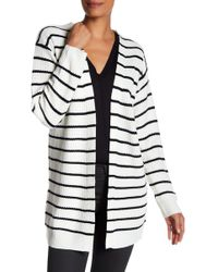 Max Studio - Lace-up Back Striped Cardigan - Lyst