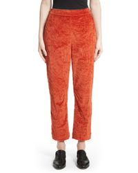 Isa Arfen - Crushed Velvet Pants - Lyst